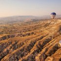 Balloons Over Landscape