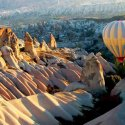 Hot Air Ballooning Over Rose Valley